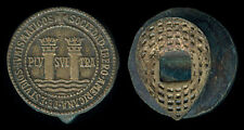 Vintage US-SPAIN Sociedad Ibero Americana de estudios Numismáticos Silver Button