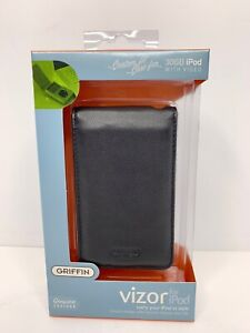 GRIFFIN Vizor Genuine Leather case for Apple 30GB iPod With Video - Black