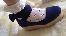 Liz Lisa tralala Neuf Bleu Marine Tissu Flatforms Chaussures japon kawaii gyaru lolita