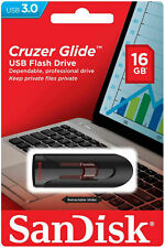 16GB SanDisk USB 3.0 Cruzer Glide CZ600 Memory Flash Pen Drive Stick CZ600 New