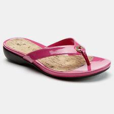 Chaps Bright Pink Patent Thong Sandal Size 8 (Retail $50)