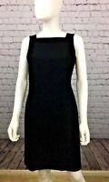 Liz Clairborne Classic Career Black Shift Dress Sleeveless Fully Lined  Sz 6