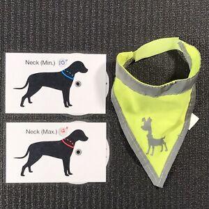 Reflective Dog Bandana - Alcott High Visibility Vest - Night Safety Construction