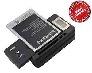 Universal External Mobile Phone Battery Desktop Charger Kit USB Port LCD Display