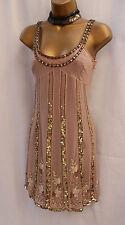 KAREN MILLEN Gatsby Flapper 20's Silk Ombre Beaded Evening Cocktail Dress 12 UK