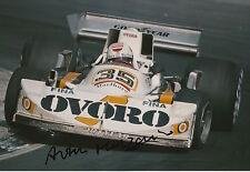Arturo Merzario Firmato a Mano 12x8 PHOTO OVORO f1 marzo.