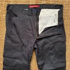 Dickies Work Combat Cargo Trousers Pants Slacks Dark Grey W38 X L28 Straight Leg