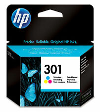 HP 301 TRI COLOUR INKJET CARTRIDGE 165 PAGES CH562EE GENUINE