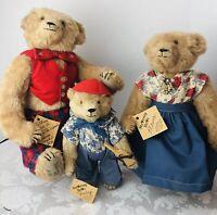 STEARNSY BEARS Original The Three Bears Walk In The Woods - Mama Papa Baby 1988