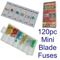 Mini Car Blade Fuses Standard 120pc Assortment Automotive Auto Fuse 5 to 30 Amp