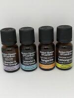 4 Better Homes And Gardens 100% pure essential oils Bundle .5 Oz Ea 2oz Total
