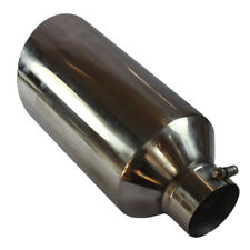 """Stainless Steel Diesel Exhaust Tip 4"""" Inlet 8"""" Outlet 18"""" Long for Car Trucks"""