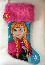 """Disney Frozen Christmas Stocking Featuring Anna 20"""" Embroidered Fabric, Faux Fur"""
