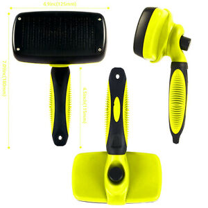 PET GROOMING SLICKER BRUSH AND CLEANING BRUSH FOR PET DOG PUPPY CAT RABBIT