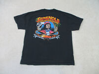 Harley Davidson Shirt Adult Extra Large Black Seminole Motorcycle Mens B8*