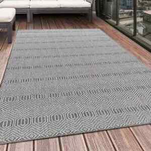 Indoor Outdoor Teppich ARUBA Balkon Teppich Wasserfest Streifen