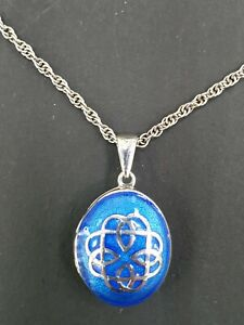 Fine Enamels by Nicole Barr Sterling Silver Chain&Pendant RRP £130