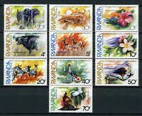 Rwanda 1982 MNH UN United Nations Environment 10v Set Elephants Birds Stamps