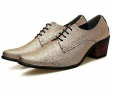 Zapatos de vestir Oxford para Hombres con Cordones en Punta Zapatos De Tacones Altos Boda Novio Nuevo