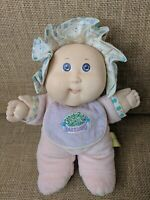 VTG My First Cabbage Patch Doll Plush Pink Bonnet 1980's Hasbro Babyland rattle