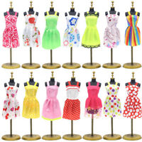 6PC/Set Barbie Dress Up Clothes Lot Cheap Doll Accessories Handmade Clothing