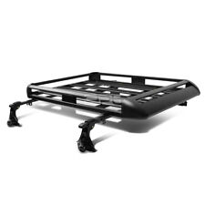 "50""X 38""ADJUSTABLE ROOF RACK SUV CARGO LUGGAGE CARRIER BASKET+CROSSBAR BLACK"