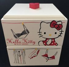 Hello Kitty Wooden 2 Level Stacking Jewelry Box New NIB