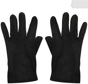 Mens Ladies 100% Polyester Clown Magician Scream Santa Short Gloves Black White