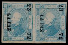 ap31 Mexico #82 12ctv PS Wmk, Pair, La Paz 23-72 Mint Original Gum Est $200-500