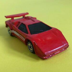 Vintage 1987 Mattel Hot Wheels Red Lamborghini Countach LP500S Sports Car