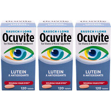 3 Pack Bausch & Lomb Ocuvite Eye Vitamin & Mineral Supplement with Lutein 120 Ea