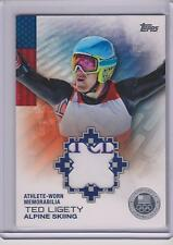 RARE 2014 TOPPS OLYMPIC TED LIGETY SILVER RELIC CARD ~ 10/50 ~ ALPINE SKIING
