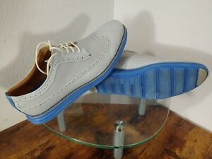 Cole Haan Original Grand Wingtip Oxford Mens 12 Gray / Blue