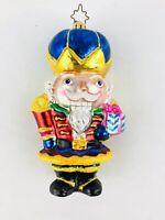 Christopher Radko NUTTY BUT NICE (BLUE HAT) Ornament Nutcracker 1011265 RETIRED