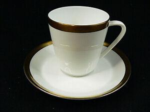 Hutschenreuther Noblesse weiß Gold Kaffeegedeck 2tlg.