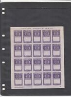 1952 Liberia Imperf Error Mint Never Hinged Stamps Sheet Ref 35945