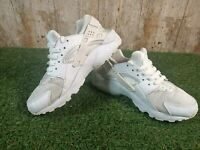 NIKE Huarache White Trainers SIZE 4 UK 36.5 EUR