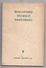 V380-BOLLETTINO STORICO MANTOVANO-N°8 OTT.DIC. 1957