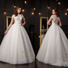 Amazing French lace wedding dress short sleeves beaded Ball bridal gown 2018