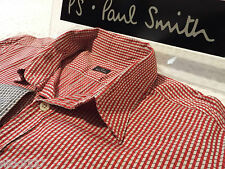 "PAUL SMITH Mens Shirt 🌍 Size L (CHEST 40"") 🌎 RRP £95+ 📮 3D STYLE CUBE/SQUARES"