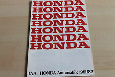 150522) Honda Civic Quintet Prelude - IAA - Prospekt 09/1981