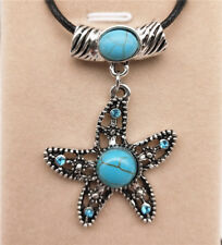 Fashion Jewelry Antique Silver Turquoise Pendant  Rhinestone Necklace Gift L13