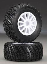 Traxxas TRA7473 Tires & Wheels White Gravel Pattern w/ Foams (2): 1/10 Rally VXL