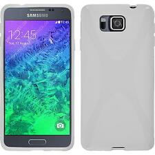 Coque en Silicone Samsung Galaxy Alpha - X-Style blanc + films de protection
