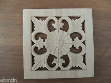 S.Carved Wood Panel w/flower