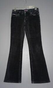Bubblegum Black Velour Jeans  bootcut size 3 4