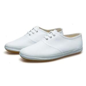Canvas Kung Fu Tai Chi Shoes Martial Arts Shoes Casual Sneakers Trainers White