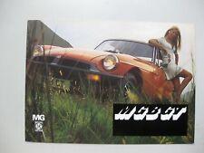 MG MGBGT MGB-GT Prospekt brochure Dutch text 12 pages 1976