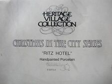 "Dept. 56 ""Ritz Hotel"" -Christmas In The City #59730,1989 -1994"
