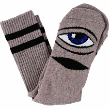 Toy Machine Skateboard Socks Sect Eye Heather Crew Pink 1 Pair